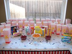 Popcorn and candy at a Movie Night Party #movienight #partytreats