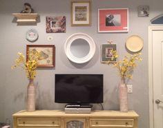 TV wall. bedroom.
