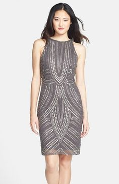 Pisarro+Nights+Studded+Sheath+Dress+available+at+#Nordstrom