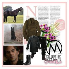 """General Miles Matheson"" by jen8f9 ❤ liked on Polyvore featuring French Connection, fanfiction, revolution, milesmatheson and monroerepublic"