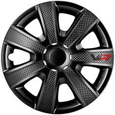4pc Enjoliveurs de roues LmPro Argent /& Noir 15 pouces PKWelt