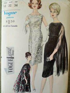 Vintage Vogue 5648 Sewing Pattern, Bateau Neckline, 1960s Dress Pattern, Ming Stole, Bust 32, Vintage Sewing Supply, 1960s Sewing Pattern