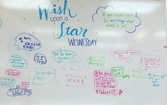 Wish Upon A Star Wednesday-white board messages School Classroom, Classroom Activities, Classroom Routines, Writing Activities, Classroom Ideas, Classroom Whiteboard, Morning Activities, Daily Writing Prompts, Bell Work