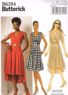 Butterick B6204, Misses' Dresses, Size 14, 16, 18, 20, 22 by OhSewWorthIt on Etsy