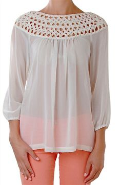 Long Sleeve Chiffon Top from HumbleChick.com. I haven't ordered from here before, but some of the styles remind me of NY&Co.