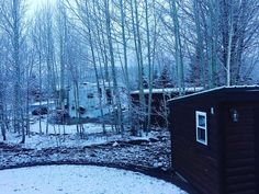 """Wish granted!  First #morning dusting of #snow! (About 1.5"""") #danadidit"""