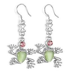 Lovely Alloy Platinum Plated Frog shaped Drop Earrings – AUD $ 2.47