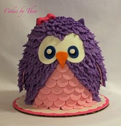 Owl Smash Cake By theajo on CakeCentral.com
