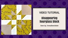 disappearing hourglass quilt tutorial - YouTube