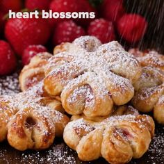 Puff Pastry Decorations 4 Ways. You can get accidentally vegan puff pastry! Just Desserts, Delicious Desserts, Dessert Recipes, Yummy Food, Fancy Desserts, Easter Recipes, Tasty Videos, Puff Pastry Recipes, Puff Pastries