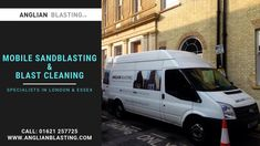 As a professional sandblasting and mobile blast cleaning expert we provide our services throughout London, and Essex. Call us today. Essex London, Removal Services, How To Remove, Van, Exterior, Cleaning, Outdoor Rooms, Vans