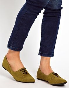 Image 3 of ASOS MEDLEY Pointed Flat Shoes