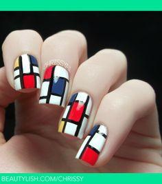 Mondrian Nail Polish