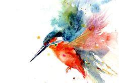 Jen Buckley Art - Kingfisher limited edition print