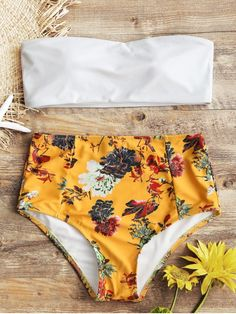 Up to 80% OFF! Bandeau Top And Floral High Waisted Swim Bottoms. #Zaful #Swimwear #Bikinis zaful,zaful outfits,zaful dresses,spring outfits,summer dresses,easter,cute,casual,fashion,style,bathing suit,swimsuits,one pieces,swimwear,bikini set,bikini,one piece swimwear,beach outfit,swimwear cover ups,high waisted swimsuit,tankini,high cut one piece swimsuit,high waisted swimsuit,swimwear modest,swimsuit modest,cover ups @zafulbikini Extra 10% OFF Code:zafulbikini
