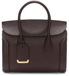 Shop Now - >  https://api.shopstyle.com/action/apiVisitRetailer?id=644768177&pid=uid6996-25233114-59 Alexander Mcqueen Medium Heroine Calfskin Leather Shopper - Red  ...