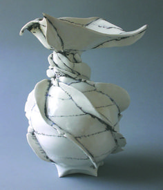 "Jocelyn Braxton Armstrong of Westport, Connecticut was a 2007 Emerging Artist. ""Contessa"" was created out of thrown and altered porcelain in 2006."