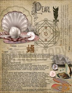 Pearls and / or coral calm any excess inner fire e. both Hindu reiki / hypnotherapy college classm Wiccan Witch, Wiccan Spells, Witchcraft, Reiki, Grimoire Book, Herbal Magic, Crystal Magic, Witch Aesthetic, Practical Magic