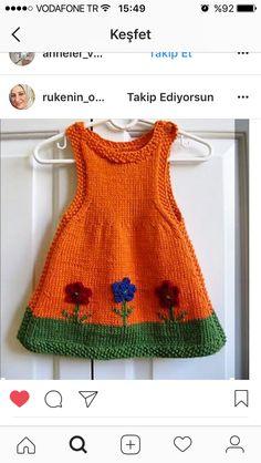Anouk als Schnittmuster von Alison Reilly – Stricken sie Baby Kleidung Baby Knitting Patterns, Knitting For Kids, Crochet For Kids, Free Knitting, Crochet Baby, Knit Crochet, Knitted Baby, Crochet Jumper, Crochet Woman