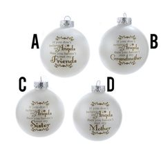 Country Marketplace - Glass Family Inspirational Ball Ornaments, $9.99 (http://www.countrymarketplaces.com/glass-famly-inspirational-ball-ornaments/)
