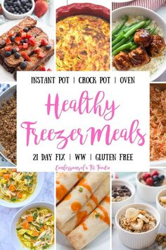 Looking for Healthy Freezer Meals to make ahead? Here are Freezer meals for the crockpot or Instant Pot with 21 Day Fix, WW, and Gluten Free options! Weight Watchers Freezer Meals, Vegetarian Freezer Meals, Freezer Friendly Meals, Make Ahead Freezer Meals, Dump Meals, Healthy Crockpot Recipes, Freezer Recipes, Freezer Cooking, Make Ahead Healthy Meals