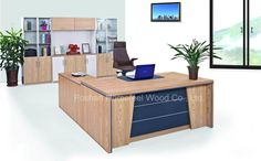 Wooden Office Furniture MFC Manager Desk Executive Table (HF-B260)