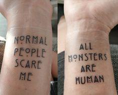 My new tattoo - Evan Peters / American Horror Story - Tattoo Neue Tattoos, Body Art Tattoos, Small Tattoos, Tatoos, Bts Tattoo, American Horror Story Tattoo, Tattoo Designs, Piercing Tattoo, Future Tattoos