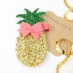 Summer Fun Pineapple Hair Clip- Glitter Pineapple Hair Clip- Glitter Hair Clip- Summwr Hair Clip- Peekabloom by Peekabloombaby on Etsy https://www.etsy.com/listing/229924795/summer-fun-pineapple-hair-clip-glitter