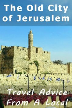 Visiting the Old City of Jerusalem - A guide from a local. Learn all about the Walls, the Quarters and the Gates of the Old CIty and get exclusive tips for visiting the Western Wall, the Church of the Holy Sepulchre and the famous Dome of the Rock. Jerusalem Travel, Old City Jerusalem, Travel Goals, Travel Advice, Travel Guide, Travel Hacks, Places To Travel, Travel Destinations, Israel Travel
