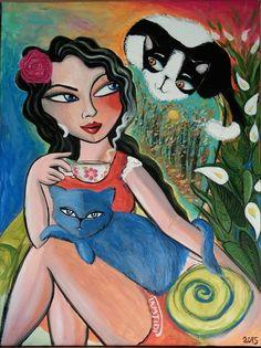 Peinture acrylique de Sara TAMJIDI, toile sur châssis 61x46cm