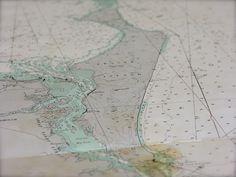 Fraser island vintage nautical chart at coastal vintage