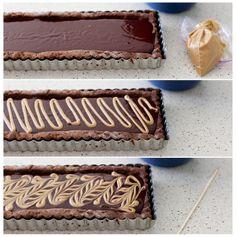 Chocolate peanut butter tart by Annies eats.