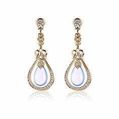 Scott Kay, Vermeil Drop Earring, blue chalcedony, Ladies Fashion : Your Style : Tamed, E3795VPCCHAWSM