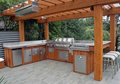 Outdoor Wood Kitchen Design Idea | The Best Wood Furniture, kitchen wood furniture, wood furniture for kitchen, kitchen furniture ideas, kitchen furniture diy, kitchen furniture design, kitchen furniture table