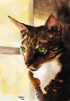 Reezie - Watercolor by Michael Brugh
