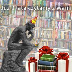 Tak, to już dzisiaj jest ten dzień. Dokładnie 3 lata temu pojawiła się w sieci strona MoznaPrzeczytac.pl ;-) Do tej pory, zrecenzowaliśmy 897 książek, zorganizowaliśmy 57 konkursów i patronowaliśmy 25 wydaniom.