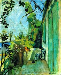 The Terrace, St. Tropez, - Henri Matisse - 1904