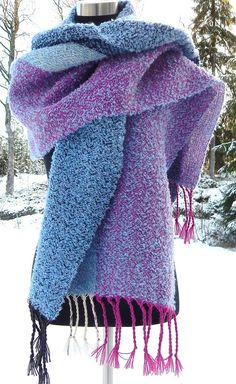 Hand woven Winter- shawl / scarf