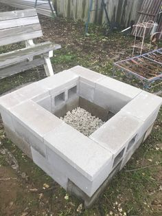 Square Fire Pit, Outdoor Decor