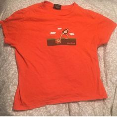 Vintage Orange Paul Frank shirt Paul Frank orange ostrich t-shirt. 1990s era item. No size tag, but would fit XS-M depending on how you want to wear it. Paul Frank Tops Tees - Short Sleeve