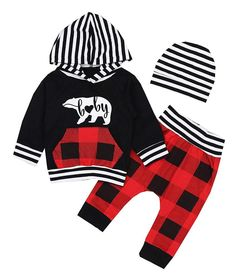 d0325543f Christmas Outfits Toddler Infant Baby Boy Long Sleeve Hoodie Tops Sweatsuit  Sets #fashion #clothing