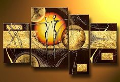 Dancing couple abstract art - Direct Art Australia, Price: $389.00, Shipping: Free Shipping, Size of Parts: 25cm x 35cm x 2 panels + 35cm x 50cm x 1 panel + 20cm x 50cm x 1 panel, Total Size (W x H): 105cm x 50cm, Delivery: 14 - 21 Days, Framing: Framed & Ready to Hang! Call us on 1300 90 21 53 and talk to your friendly art customer service representative.  http://www.directartaustralia.com.au/