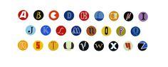 Martin Grover | Alphabet of Record Labels | #print | #art | #music | www.forartssake.com