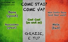 Italian lesson: come stai? How are you?