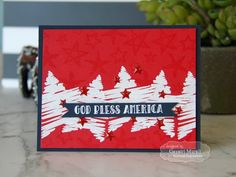 Taylored Expressions - God Bless America by Gayatri Murali* #fourthofjuly #4thofjuly #independenceday #stars #stripes #america #USA #handmade #diecutting #stamping #rubberstamps #tayloredexpressions #handmade