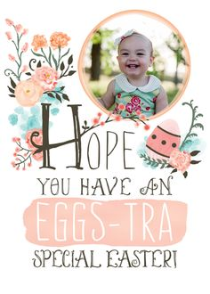 Notes From Nessa pairs the dresses this little cutie in the perfect Easter dress to match one of our most popular Easter cards proving your photo really makes the card come to life.