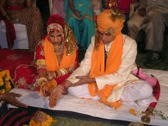 In India, where most Hindus live, by law and tradition, no Hindu marriage is binding and complete unless the ritual of seven steps and vows in presence of fire (Saptapadi) is completed by the bride and the groom together. This requirement is under debate.