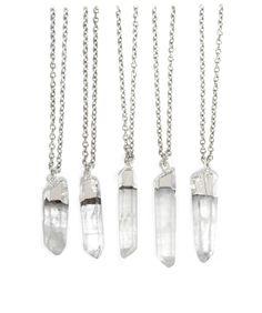 Raw Crystal Healing Quartz Necklace