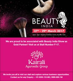 We are proud to be associated with Beauty India Show as Gold Partner! Visit us at Stall Number We invite you all to visit our stall and explore various business opportunities. Contact us for any Enquiry – Ayurvedic Healing, Business Opportunities, Invitations, Invite, Ayurvedic Products, Wealth, Cosmetics, Number, Explore