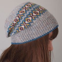 A beautiful color combination for the Seasons Hat. Knit by Ravelry user juliabe; pattern by Jared Flood